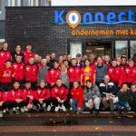 groepsfoto spelers Go Ahead Eagles bij KonnecteD